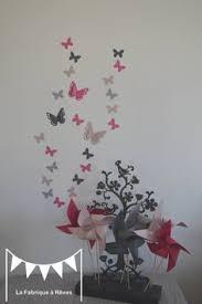 d馗oration papillon chambre fille envolée de papillon sur le mur décoration chambre bébé 3
