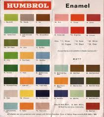 humbrol colour charts airfix collecting