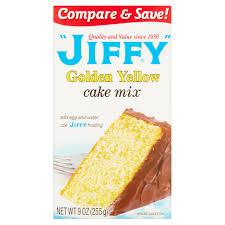 jiffy golden yellow cake mix 9 oz walmart com