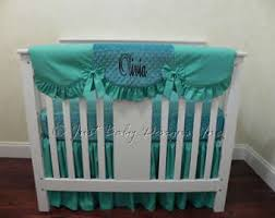 teal baby bedding etsy