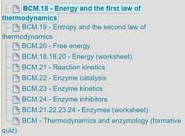 how much information is there in bcm biochemistry and