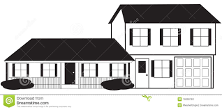 split level house sketch with stock photos image 19390793