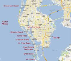 Map Of Clearwater Beach Clearwater St Petersburg Tampa Jet Ski Rentals