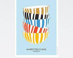 affiche deco cuisine affiche cuisine etsy