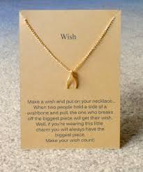 necklace online store images Make a wish necklace wishbone classically on trend online jpg