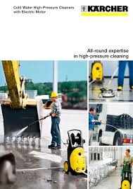 cold water high pressure cleaners with electric motor karcher