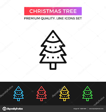 vector christmas tree icon thin line icon u2014 stock vector