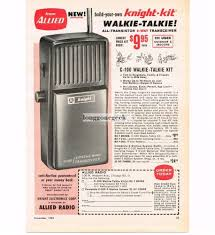 1962 allied radio knight kit c 100 walkie talkie cb radio vtg