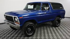79 Ford Bronco Interior 1979 Ford Bronco Blue Youtube