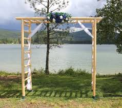 wedding arch log idaho event rentals all about weddings