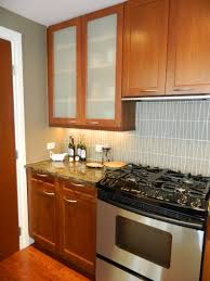 cabinets u0026 drawer small kitchen brown wooden frosted glass