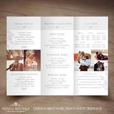 flyer design preise hochzeit fotografie trifold broschüre template client willkommen