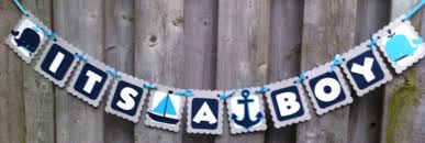Nautical Themed Baby Shower Banner - its a boy banner nautical theme banners baby shower banners