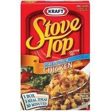 stove top dressing kraft stove top mix chicken lower sodium 6 oz walmart