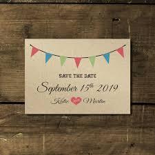 wedding invitations kraft paper vintage bunting kraft wedding invitation feel wedding