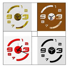 Clock For Bathroom Diy Numbers Stickers Wall Clock Removable Wallpaper Time Decor Art