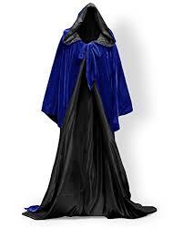 pingfeng wizard robe velvet hood cloak wicca larp goth costume