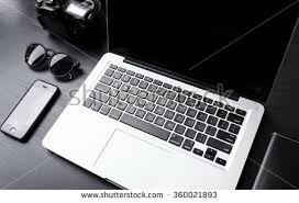 minimalist laptop laptop desk minimalist setup stock photo 360021893 shutterstock