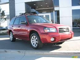 red subaru forester 2005 cayenne red pearl subaru forester 2 5 xs 3641797 gtcarlot
