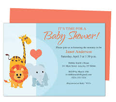 animals cute printable diy baby shower invite templates edits with