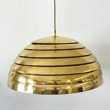 large mid century modern brass dome pendant lamp from vereinigte