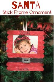 santa craft sticks photo frame teach me mommy