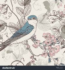 vintage flowers and birds wallpaper the best flowers ideas