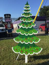 Metal Christmas Lawn Decorations by Christmas Trees Outdoor Yard Displays Christmas Wikii