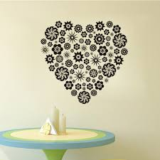 online get cheap small bathroom decor aliexpress com alibaba group small flower pattern heart wall sticker creative design living room bathroom baby room vinyl diy home