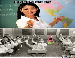 Raising Hand Meme - patrick you don t raise your hand by recyclebin meme center