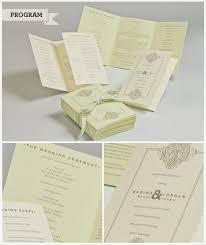 trifold wedding program paper 42 best tri fold wedding programs images on tri fold