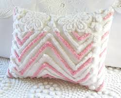 Shabby Chic Pillow Covers by Pink Chevrons Vintage Chenille Pillow Cover Etsy Finds Pillows