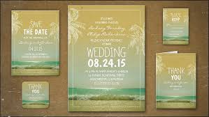 read more palm trees waves sea wedding invitations