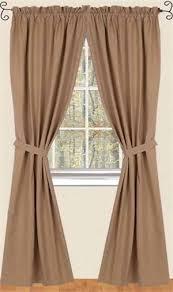 farm house solid curtains in nutmeg