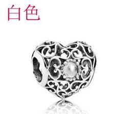 ebay charm bracelet silver images 1pcs white crystal silver charm bead fit european charm bracelet jpg