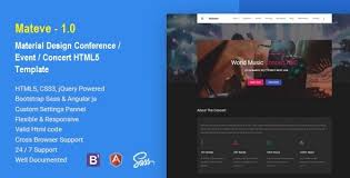 mateve material design event conference concert html