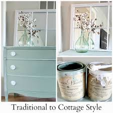 traditional to cottage style a dresser gets a makeover hymns
