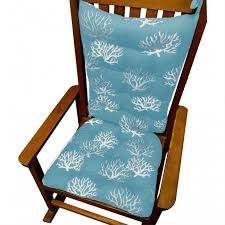 Indoor Wooden Rocking Chair Decor Amusing Dark Navy Blue Chair Cushion For Comfortable Wooden