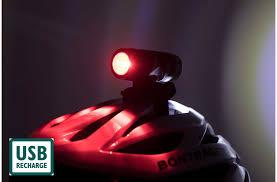 fwe rechargeable dual helmet light set 50 15 lumen bike lights