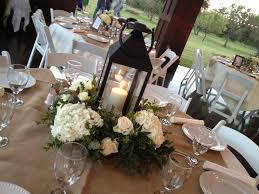white lantern centerpieces white lantern and hydrangea centerpiece wedding