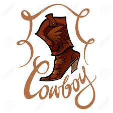 cowboy boot fashion leather foot wear shoe royalty free cliparts