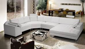 Modern Sofas Leather Living Room Brownbeige Hr Modern Leather Sectional Sofa With