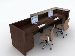 Two Person Reception Desk 2 Person Desk Solutions For Designing And Decorating Your Home