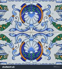 spanish mediterranean authentic vintage spanish mediterranean ceramic tile stock photo