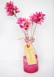 Acrylic Flower Vases Think Pink Painted Bottle Vases