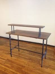 Industrial Standing Desk by Office Desk On Galvanised Steel Frame Chunky Warehouse Chic For