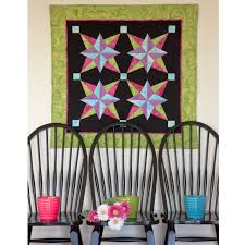 go blazing star wall hanging pattern accuquilt