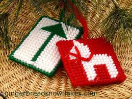 windmills canal houses plastic canvas ornaments and a