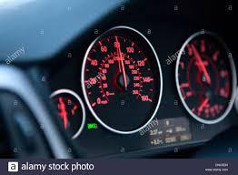 bmw speedometer closeup of the bmw 3 series f30 dashboard speedo stock photo