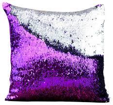 Mermaid Pillow Co Amethyst Purple & Silver Mermaid Pillow View